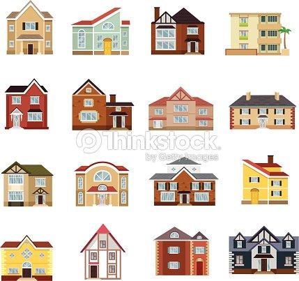Vector House Flat Icon Set Vector Art Thinkstock