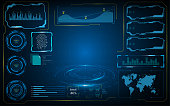 vector hud ui screen digital cyber tech futuristic concept EPS 10 Vector