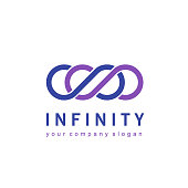 Vector icon design for business. Infinity sign