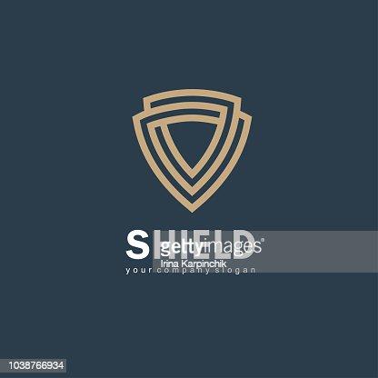 Vector icon design template. Shield sign : stock vector