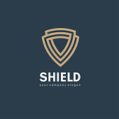 Vector icon design template. Shield sign