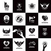 Vector icon template for a photographer or studio
