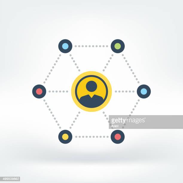 Vector Icon of Social Network