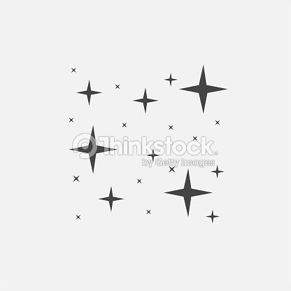 Vector icon of the star, starry sky, shine of purity : stock vector