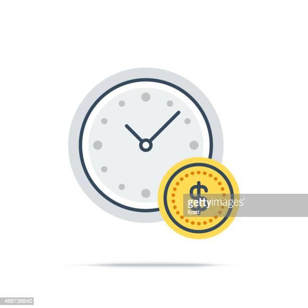 Icona vettoriale di gestione del tempo