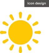 Vector icon sun rays light