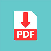PDF vector icon. Download file. Sign for web or app.