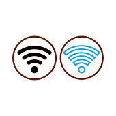 Vector icon WI-FI sign connection illustration