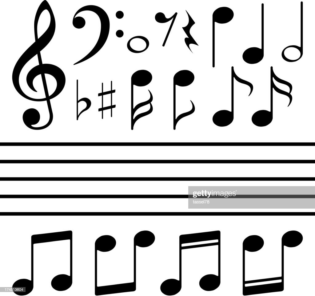 vector icons set music note vector art thinkstock rh thinkstockphotos com music note vector free music note vector download