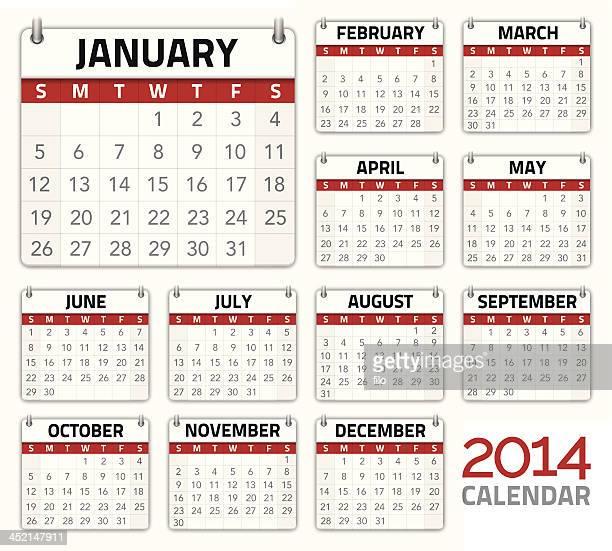 Vector illustration 2014 calendar planner