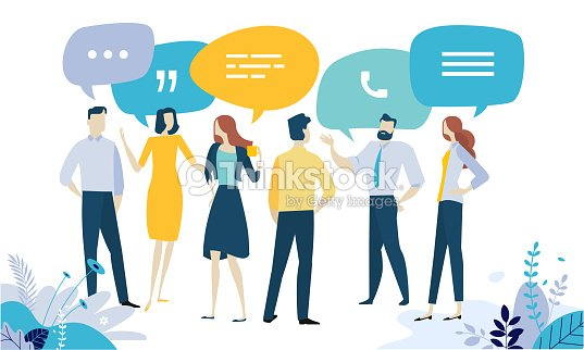 Vector illustration concept of testimonial, social media, networking, business communication, forum, product review : stock vector