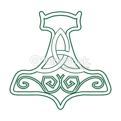 Vector Illustration For Nordic Community Mjolnir Or The Hammer Of