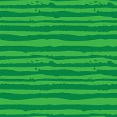 Vector Illustration green watermelon striped seamless hand drawn pattern. Grunge style ink design
