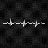 Vector Illustration heart rhythm ekg .vector