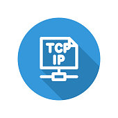 Vector illustration icon for the TCP/IP protocol