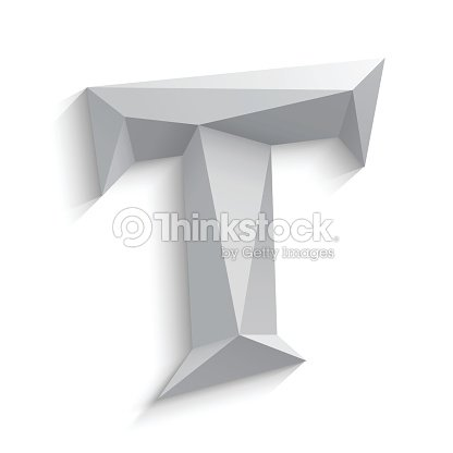Vector illustration of 3d letter T on white background : Vector Art