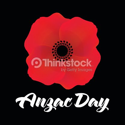 Vector Illustration Of A Bright Poppy Flower Anzac Day Symbol Vector