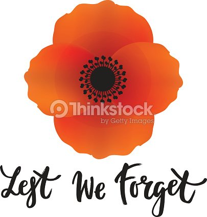 Vector Illustration Of A Bright Poppy Flower Remembrance Day Symbol