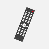 Vector illustration of a remote control. remote triggering device icon. Layers grouped for easy editing illustration. For your design.