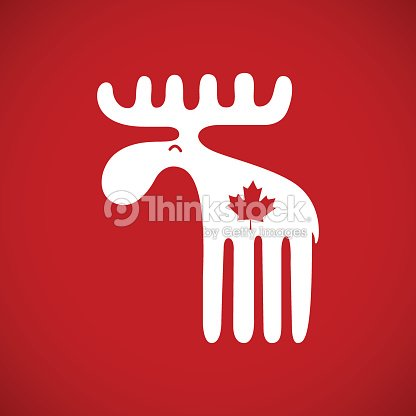 Vector Illustration Of An Animal Symbol Of Canada White Canadian
