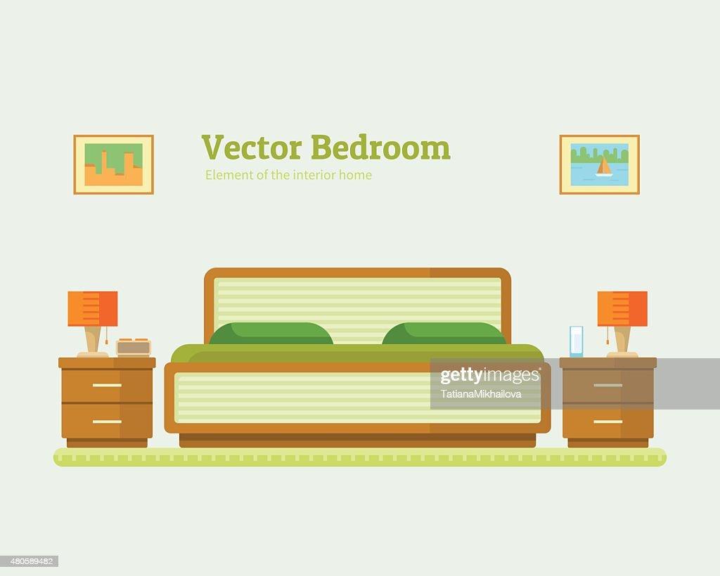 vector illustration of  bedroom : Vector Art
