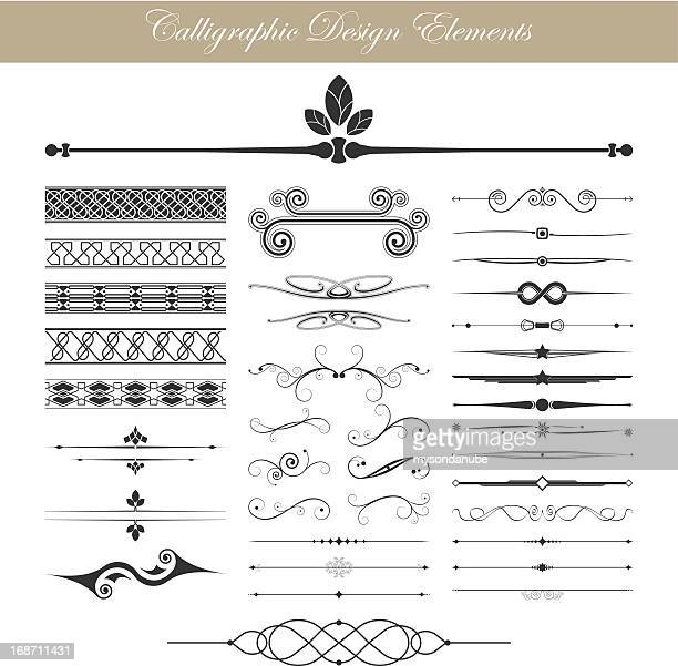 illustration vectorielle de calligraphic elements