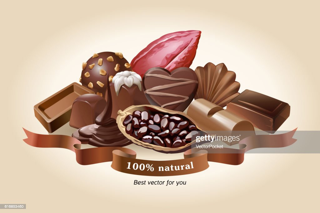Vector illustration of chocolate sweets : Vector Art