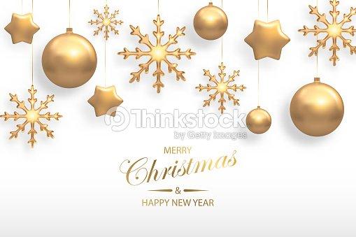 Weihnachten Hintergrund.Vektorillustration Von Weihnachten Hintergrund Mit Goldenen