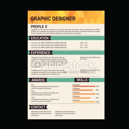 Vector Illustration Of Colorful Resume Template