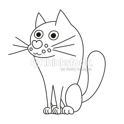 Vector Illustration Of Cute Dog Like Wolf Coloring Book Page Art