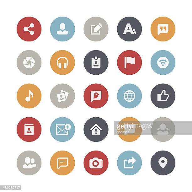 Vector illustration of digital media icons