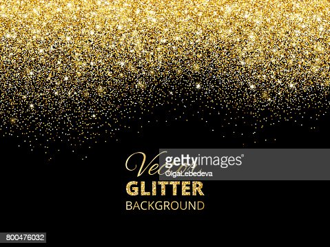 Vector illustration of falling glitter confetti, golden dust. Fe : Vector Art