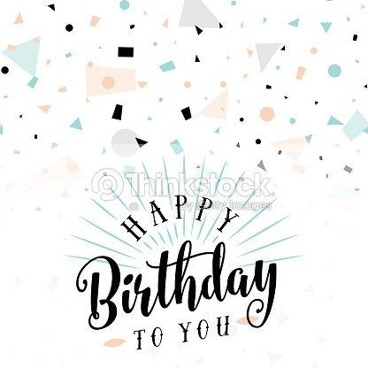 Vektor Illustration Von Happy Birthday Greeting Card Vektorgrafik