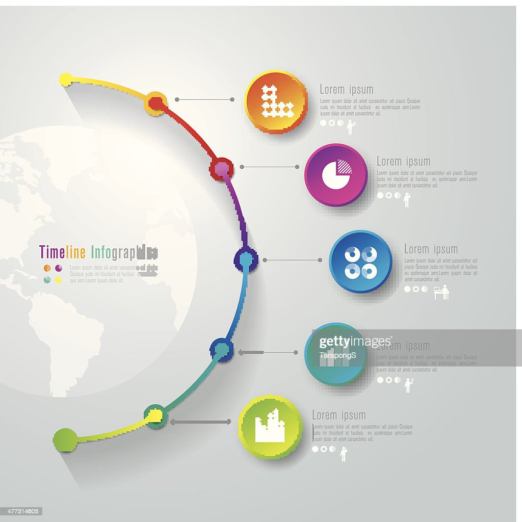 Vector illustration of infographics template