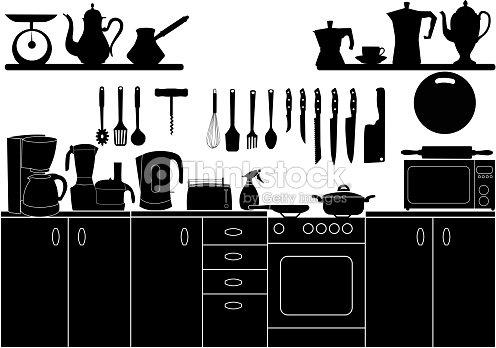 Illustrazione vettoriale di utensili da cucina per for Per cucinare 94