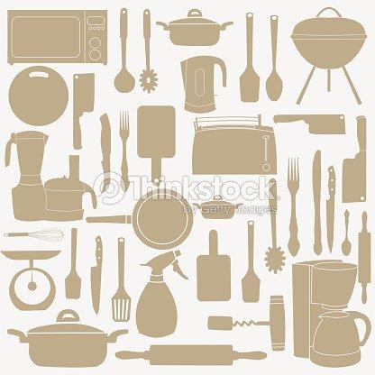 Illustrazione vettoriale di utensili da cucina per for Cucina per cucinare