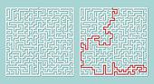 Vector illustration of maze labyrinth.