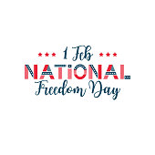 Vector illustration of National Freedom Day. Poster for celebration design. America country national event. USA flag.