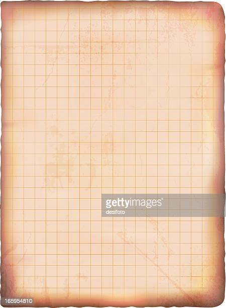 Vector illustration of old grunge graph paper