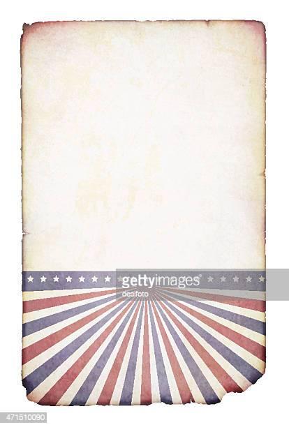 Vector illustration of old grunge patriotic paper