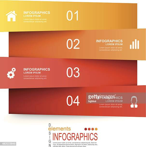 Vector illustration of paper infographics elements