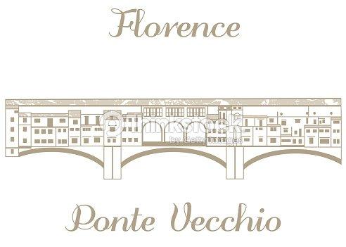 Illustrazione vettoriale di ponte vecchio arte vettoriale for Disegni ponte veranda