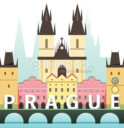 Vector illustration of prague czech republic vector art for Prague design