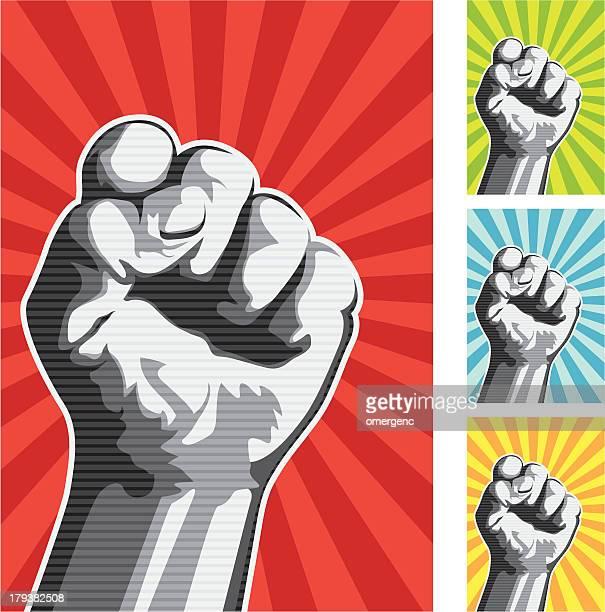 Vector illustration of raised fist