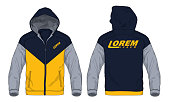 Vector illustration of sport hoodie jacket