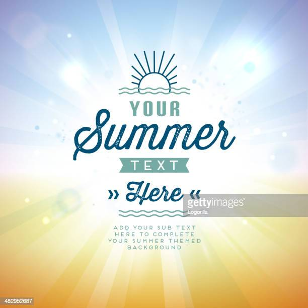 Vector illustration of summer background