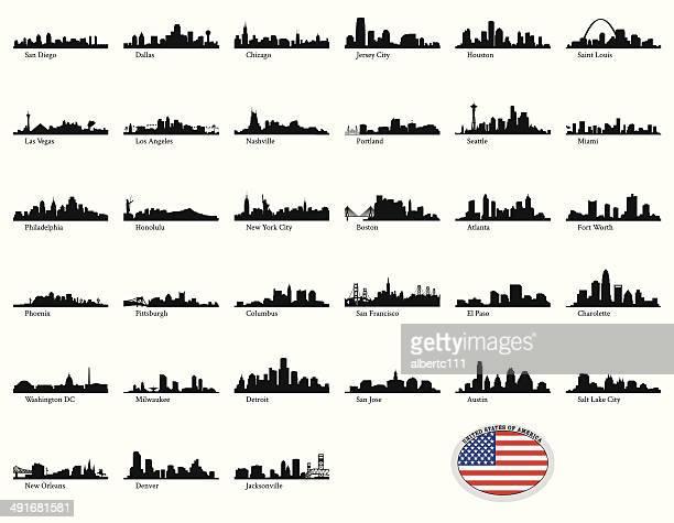 Vektor-illustration von US-Städten