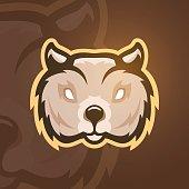 Vector illustration of wombat. Sport logo mascot.