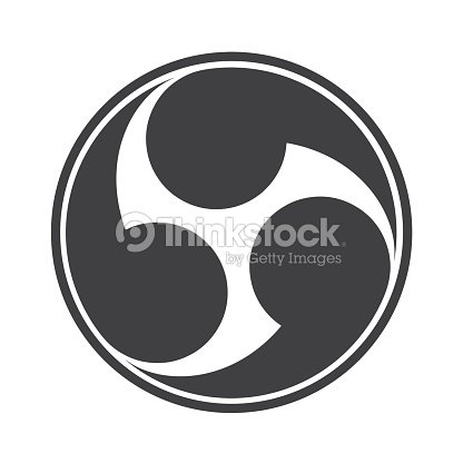Vector Illustration Tomoe Or Tomowe A Japanese Symbol Or Icon Is