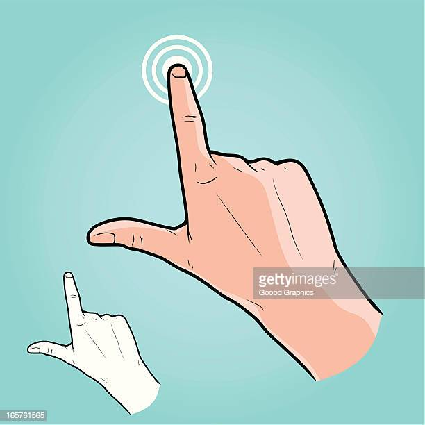 Vector illustration - Touch Screen Hand Gesture